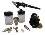 350-4 Airbrush Set w/All Three Heads (F, M, H)